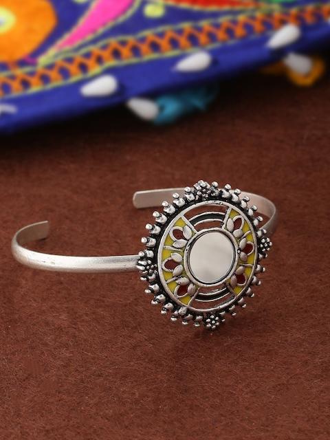 Studio Voylla Silver-Plated Handcrafted Cuff Bracelet
