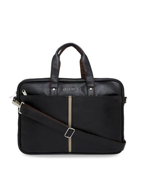 MBOSS Unisex Black Solid Laptop Bag