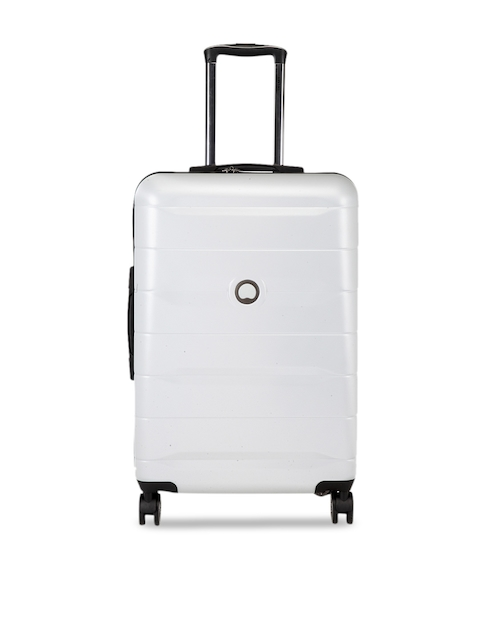 DELSEY Grey Solid Comete Hard-Sided Cabin Trolley Suitcase