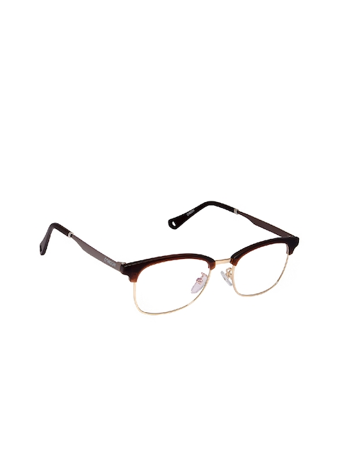 Cardon Unisex Brown & Gold-Toned Full Rim Browline Frames NEWCD1251