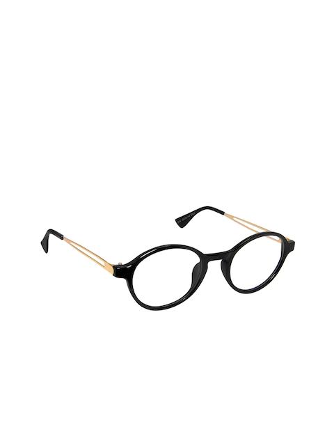 Cardon Unisex Black & Gold-Toned Full Rim Oval Frames NEWCD1325
