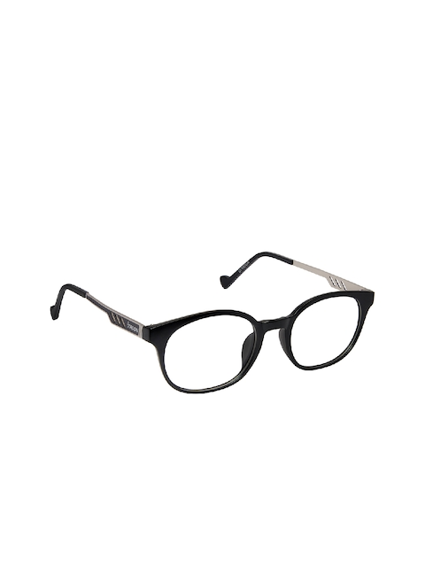 Cardon Unisex Black Solid Full Rim Oval Frames NEWCD1234