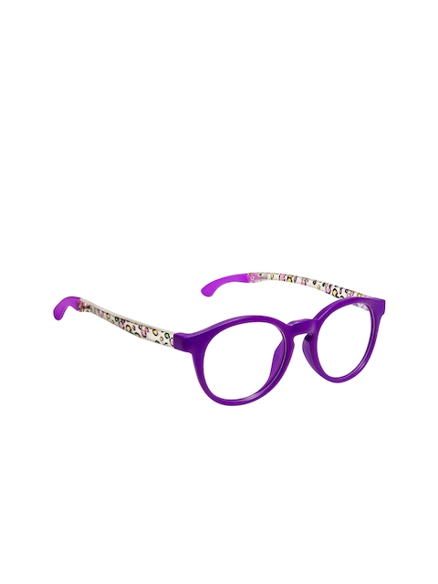 Cardon Girls Purple & White Abstract Full Rim Round Frames CNEWCD1884