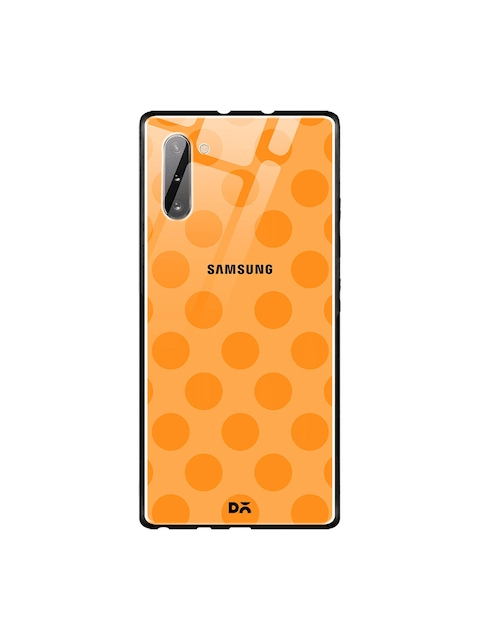 DailyObjects Orange Polka Samsung Galaxy Note 10 Glass Mobile Case Cover