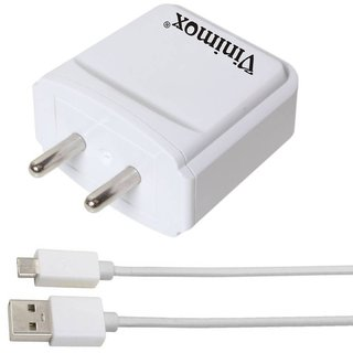 Vinimox 3.1amp fast Wall Charging Adapter for Phone   Type-C and Android ( White )