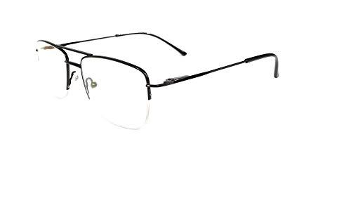 Amar lifestyle computer glasses Crizal transitions black metal half rim 51 mm unisex_alfrpr3096