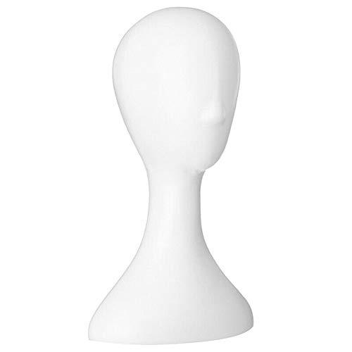 ELECTROPRIME 10X(Lady high Plastic Head Wig Head Female Model Head White G1J9)