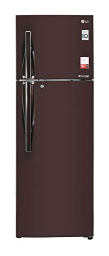 LG 360 L Frost Free Double Door 2 Star (2020) Convertible Refrigerator(Russet Sheen, GL-T402JRS2)