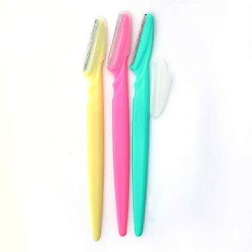 Avnish enterprise Eyebrow Razors Face Hair Removal Eyebrow Trimmers for Women - Pack of 3 (Multicolour )