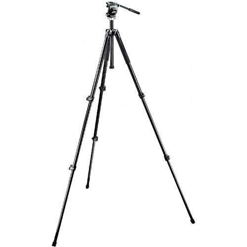 Manfrotto MK294A3-128RC Aluminum 3 Section Tripod with RC Head (Black)