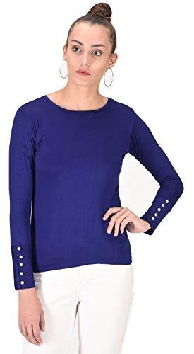 Alfa Fashion Women's Top (Alfa_LycraPearl_Navy_Small)