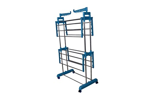 SUNDEX Power Dryer Easy Cloth Drying Stand Laundry Drying Rack Stand and Garments Rack Mild Steel,