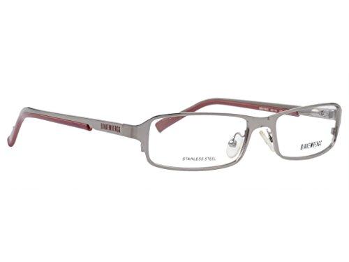 Bikkembergs Rectangular Unisex Spectacle Frame - (BK-078-03|53|Silver)