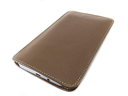 Chalk Factory Genuine Leather Mobile Case, Pouch for Samsung Galaxy A Series (A40, Tan)