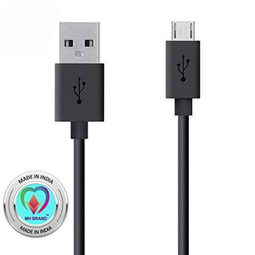 MH BRAND USB Cable Compatible for Xiomi Redmi Y1 (Note 5A)/ Redmi Y1 Lite/Redmi 4 (4X)/Redmi Note 4X/ Redmi Note 4/ Redmi 4A Micro USB Data Cable| Quick Fast Charging Cable| Transfer Android V8 Cable- Black
