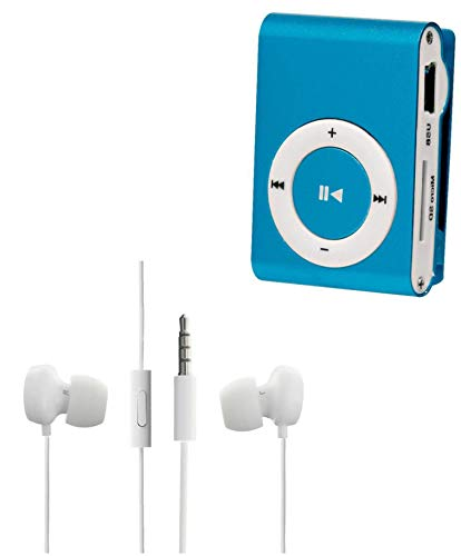 Drumstone Mini iPod Mp3 Music Player with Micro SD TF Card Slot and WH208 in-Ear 3. 5mm Stereo Earphones with Mic for All Smartphones