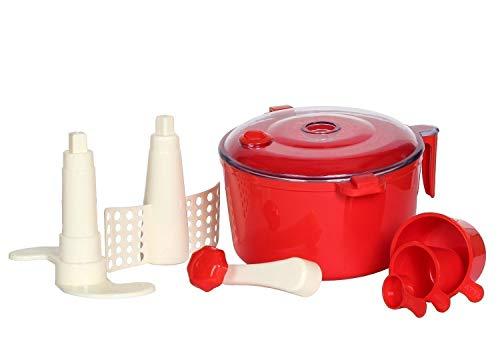 Superstar Dough Maker, Atta Maker, Atta Machine, Atta Chakki 3 in 1 for Kitchen (Red)