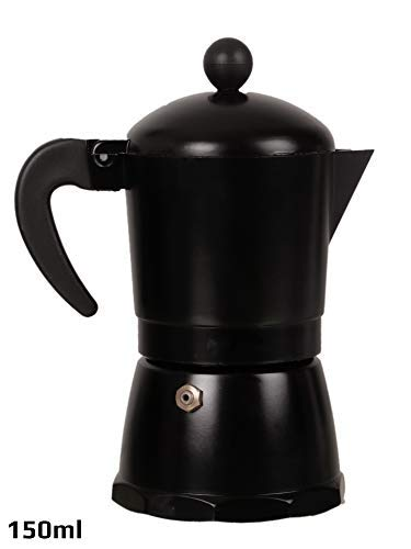 3d Creations Aluminium 3 Cups Aluminum Polished South Indian Filter Degree Coffee Machine, 150 ml (Black)