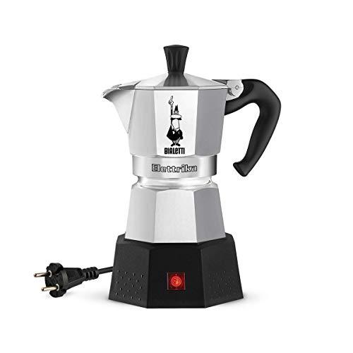 Bialetti Moka ELETTRIKA (2 cups-100ml) Coffee Machine/Electric Espresso Maker/Percolator/Filter Coffee Maker: Made in Italy