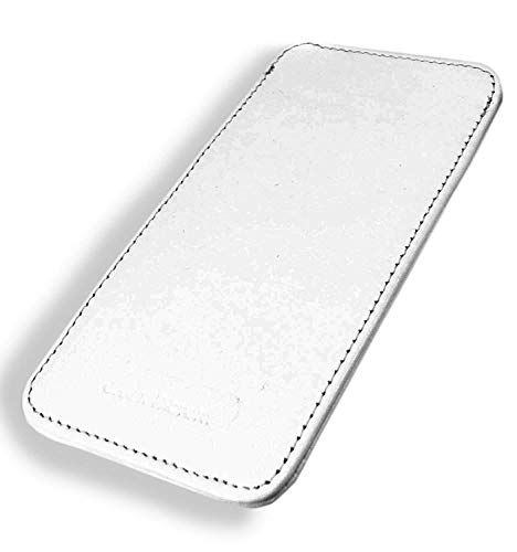 Chalk Factory Genuine Leather Mobile Case, Pouch for Samsung Galaxy M Series (M30, White)