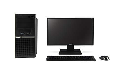 Acer Veriton M200 Desktop with 19.5 inch HD Monitor (Intel Core i3-8100 Processor/4GB/1TB/Window 10 Home 64Bit/Integrated Graphics), Black
