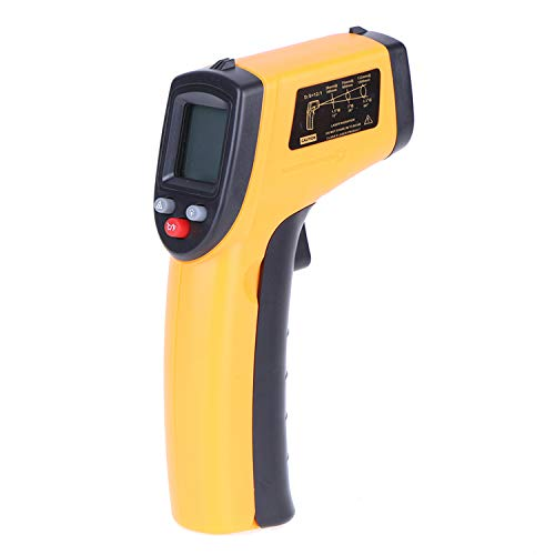 Honelife Digital Infrared Thermometer Industrial Temperature Gun Non-Contact with Backlight -50-380°C(NOT for Humans) Battery not Included