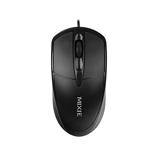 Mixie (Wired, Plug and Play USB Mouse, 1000dpi, Small Mouse, Compact, Light and Flexible (Suitable for Women)