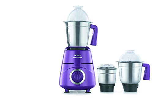 Usha Thunderbolt Mixer Grinder 800-Watt 3 Jars with Copper Motor(Magenta)