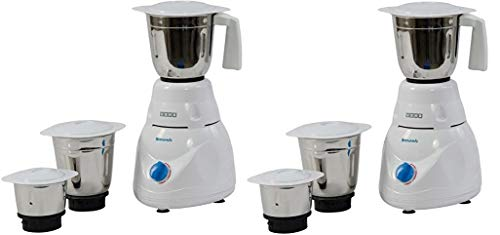 Usha Smash Mixer Grinder (MG-2853) 500-Watt 3 Jars (White) Pack of 2