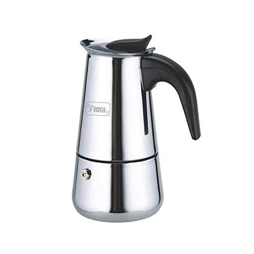 Flora Stainless Steel Percolator Coffee Maker Stovetop Espresso Maker Moka Pot Coffee - 4 Cups