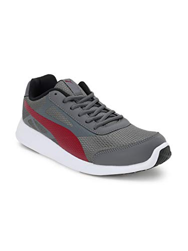 Puma Men's Trenzo Ii Idp Castlerock-Rhubarb Running Shoes-11 UK (36828607_11)