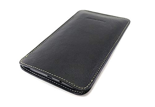 Chalk Factory Genuine Leather Mobile Case, Pouch for Redmi Y2 (Black)