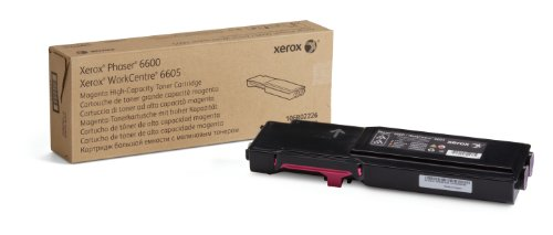 Xerox 106R02226 High Capacity Toner for Phaser 6600/WorkCentre 6605, Magenta