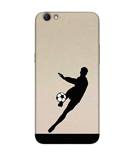 S SMARTY Footboler Printed Hard Case Mobile Back Cover for Oppo F3 Plus