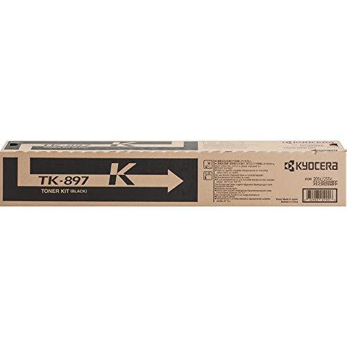 Kyocera Black Toner Cartridge, 12000 Yield (TK-897K)