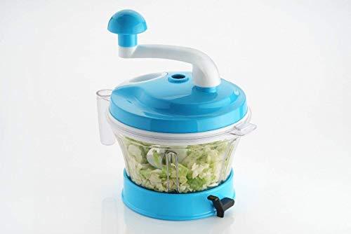 Diva Enterprise 4 in 1 Vacuum Base Vegetable & Fruit Chopper/Atta Maker Dough Kneader for Kitchen (Multi Color)