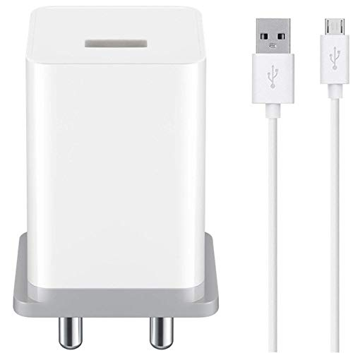 Shoptech Ultra 2.4Amp.Mobile Charger for Oppo F11/Hi Speed Certified Travel Charger/Wall Charger/High Speed Android Chager with 1 Meter Micro USB Cable.(2.4Amp.Black)