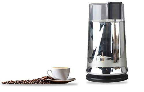 OMANZA Coffee Grinder Electric - Small & Compact Simple Touch Blade Mill 200 W Stainless Steel - Automatic Grinding Tool Appliance for Whole Coffee Beans, Spices, Herbs & Nuts