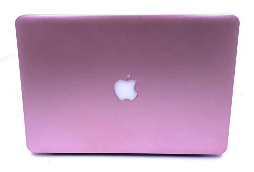 """24x7 eMall Rose Gold Hard Shell Cover Compatible Old MacBook Air 13"""" (2010-2017 Release) Metallic Finish"""