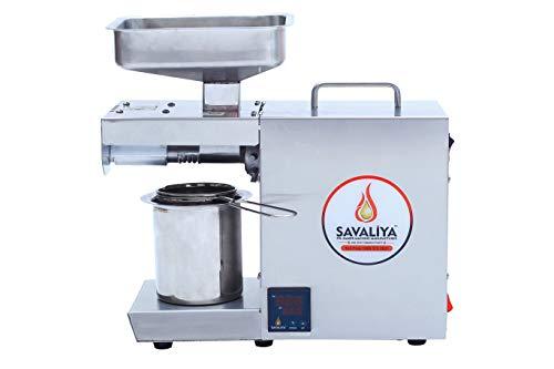 Savaliya Industries 400W Edible Oil Press Machine (Silver) :: Made in India :: (Digital Temperature Controller)