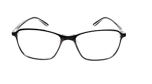 Amar lifestyle computer glasses Crizal transitions black plastic rectangular 54 mm unisex_alfrpr2626