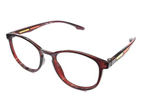 Eyewear Stylez Ultra Lightweight Cat Eyes Frame With Prescription Anti Glare Lenses Uv Protection Anti Reflection Protection From Computer (+1.00 Sph, Full Brown)