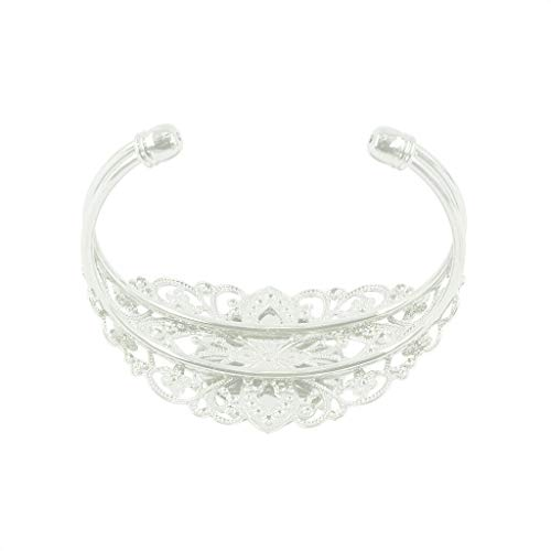 ELECTROPRIME 4pcs Cuff Bangle Bracelets Bases Blanks Round Setting DIY Jewelry Design