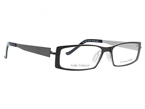 Patrizio Cavallin Rectangular Unisex Spectacle Frame - (PC-90034-03|52|Grey)