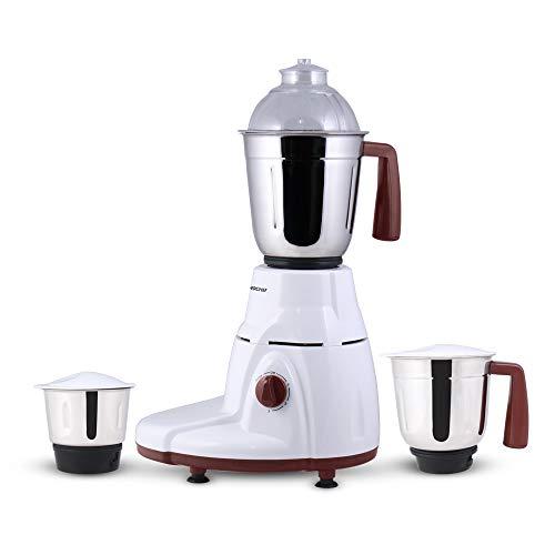 Wonderchef Rialto 63153023 750-Watt Mixer Grinder with 3 Jars (White/Brown)