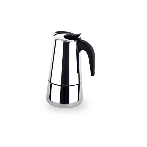Generic Charvi Enterprise Espresso Maker, Moka Pot, Percolator Italian Coffee Maker (200ml / 4 Cup), Mocha Cappuccino and Latte Single-Origin Pour, Stainless Steel Pot