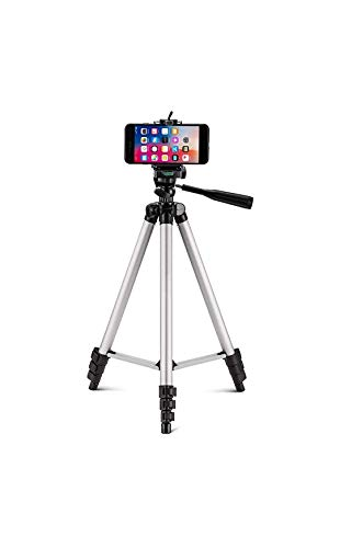 IMMEQA Lightweight Tripod with Bag (Silver, Black)