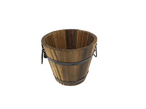 WoodPecker - The Garden Store Wood Pot (21 x 21 x 18 cm, Brown)