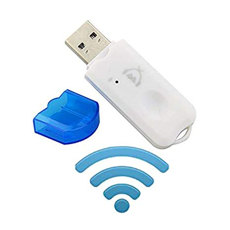 CEUTA® USB Wireless Music Audio Bluetooth Receiver,Dongle 4.0 USB Adapter Hands-Free Dongle Kit Compatible with Speaker,Home Theater,Car Music System,PC and All Mobiles etc.- White