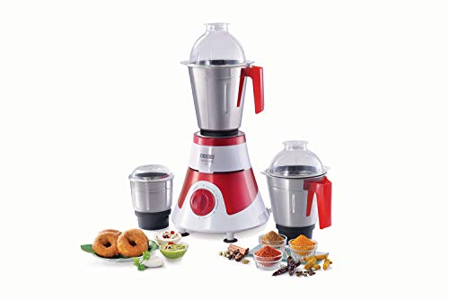 Usha Mixer Grinder 3576 imprezza 750watt 3 jar (RED and White)